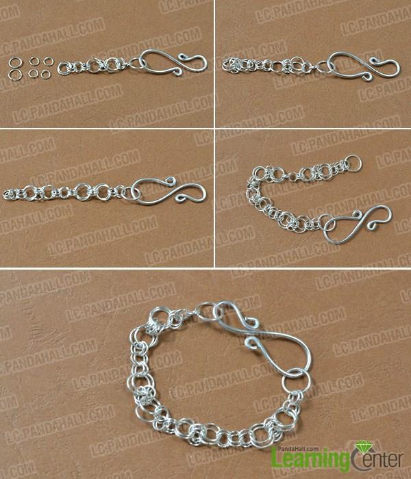 Finish the jump ring bracelet pattern