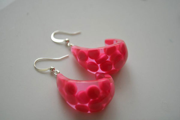 earrings for hot pink jewelry set