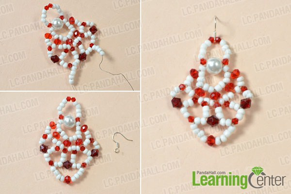 make the top part of the Christmas Santa Clause earring