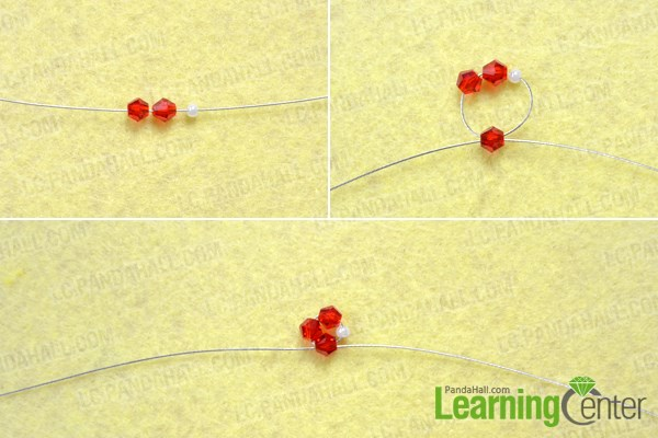 Make basic pattern for beaded spiral earrings
