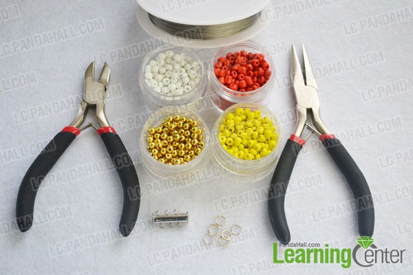 materials for wide stitch beading bracelet
