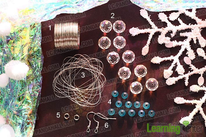Material for Making crystal snowflake earrings