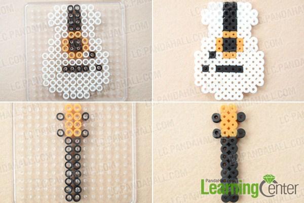 Make basic elements of perler bead guitar