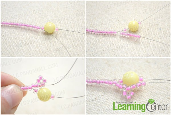 make the beaded lace necklace pattern