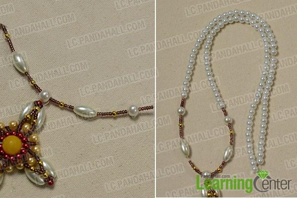 make the rest part of the handmade cross pearl bracelet