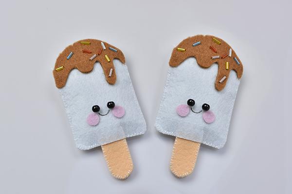 How to make lovely felt ice cream craft at home pandahall com