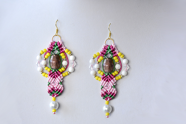 how to make earrings with beads and thread