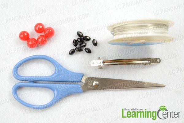 Materials on how to make barrettes with beads