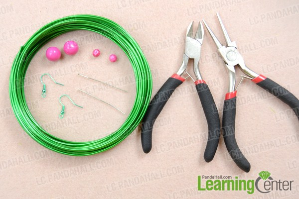 Materials on how to wire wrap earrings