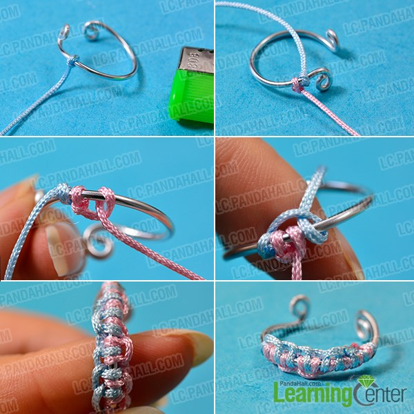 How to Make Easy Aluminum Wire Ring with Colorful Nylon Threads ...