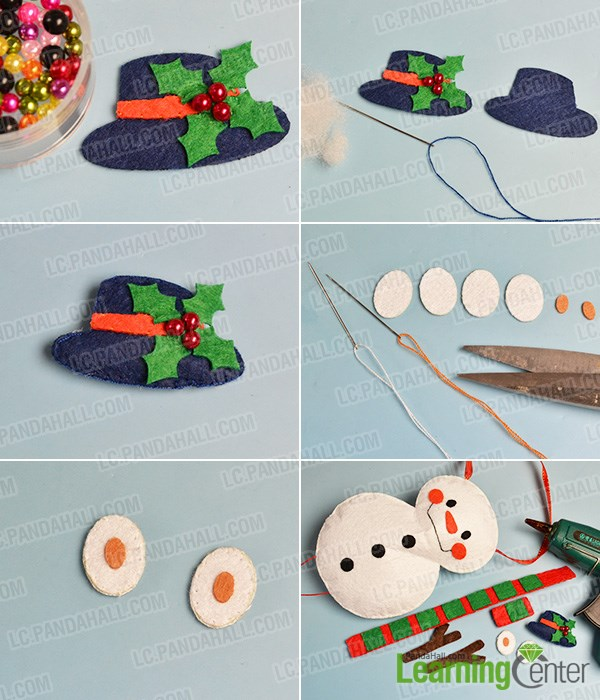 Decorate the hat with beads