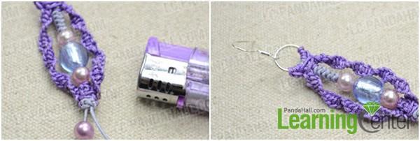 Step 3: Finish the macramé earrings