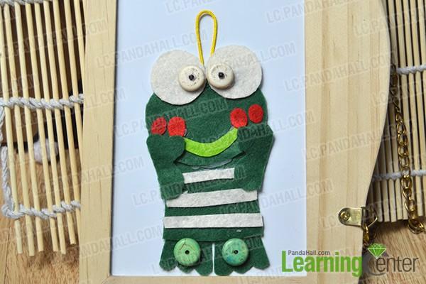 finished funny frog hanging decoration