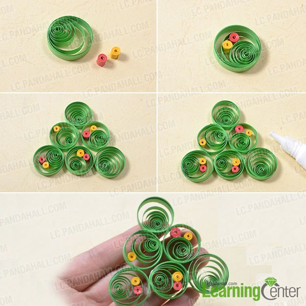 Pandahall Tutorial On How To Make A 3d Paper Quilling Christmas Tree