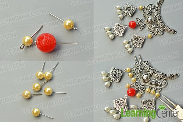 Decorate the big Tibetan silver chandelier component