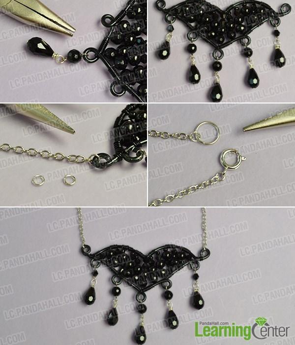 Finish the bat pendant necklace
