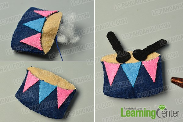 make the fifth part of the easy felt photo frame