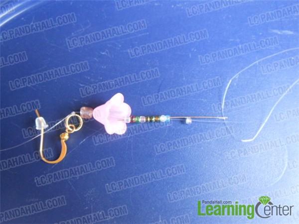 add beads for smmer flower earrings