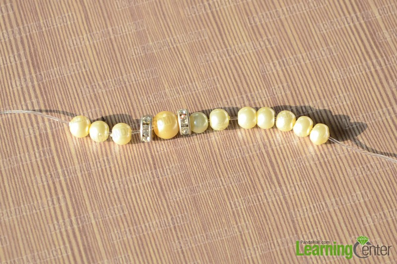 slide pearl beads onto wire