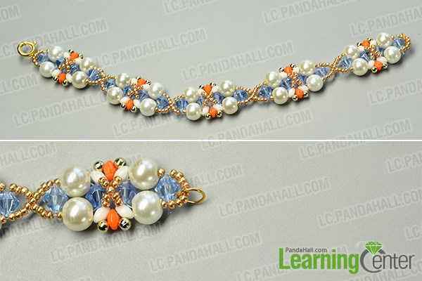 Finish the handmade beaded bracelet