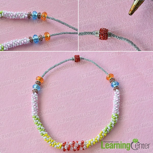 make the rest part of the kumihimo seed bead necklace