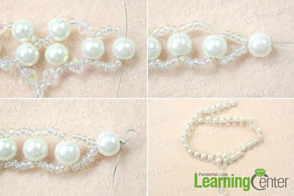 Finish making choker necklace for wedding
