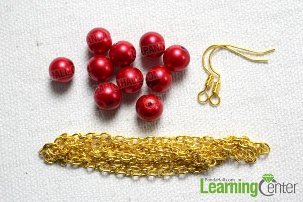 materials for dangle earrings
