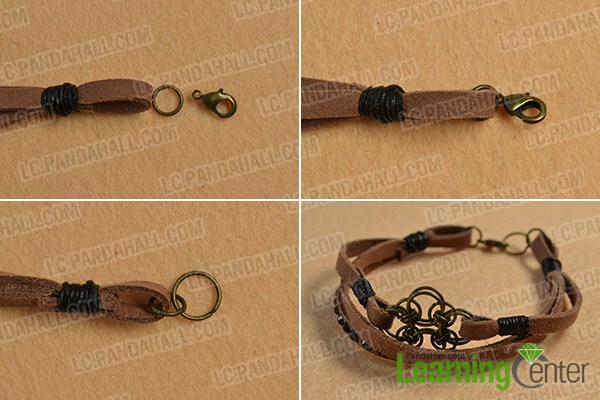make the rest part of the chocolate suede cord bracelet