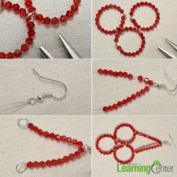 Make beaded dangling earrings