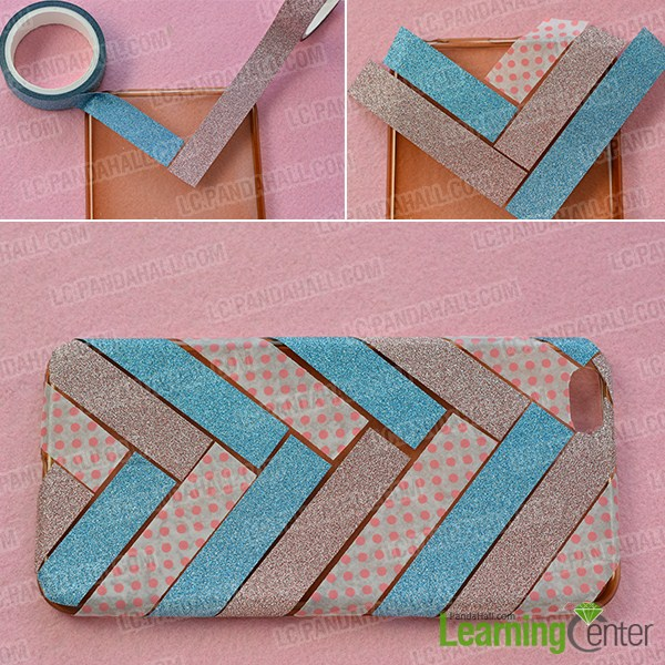 make the first part of the washi tape phone case