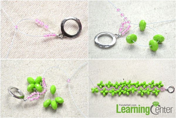 start beading the spring beaded cuff bracelet