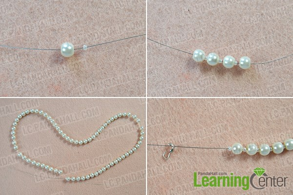 How to Make Fashion White Pearl Body Necklace Jewelry 1