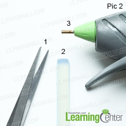 Tools for making beaded flower charm ring