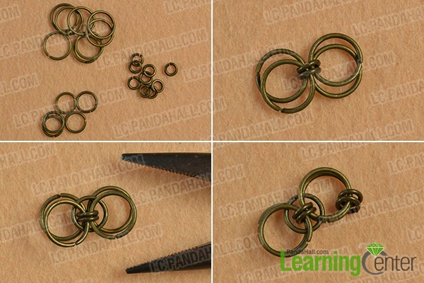 make the first part of the chocolate suede cord bracelet