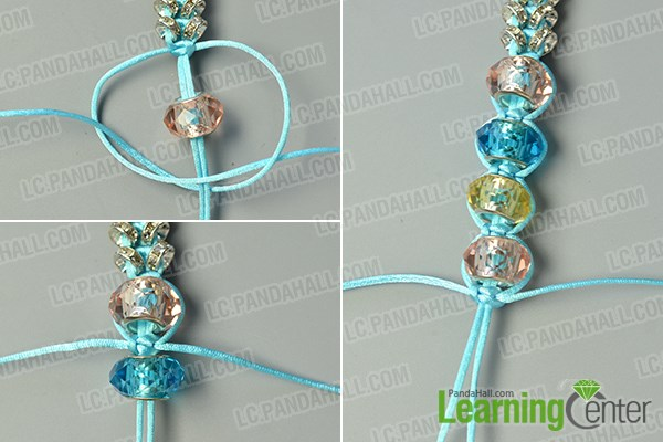 make the third part of the nylon thread braided bracelet