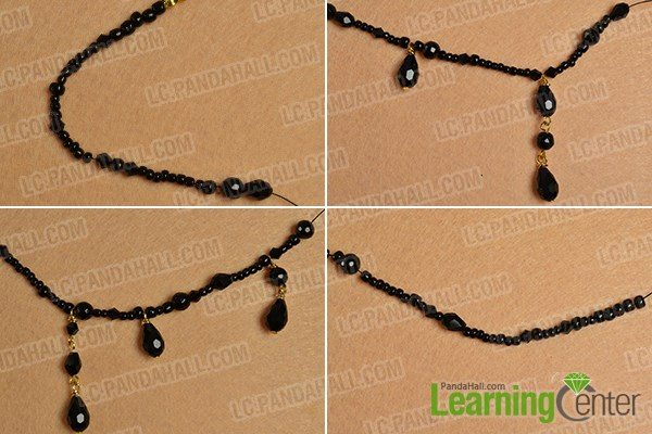 Make the main pattern of this Halloween choker necklace