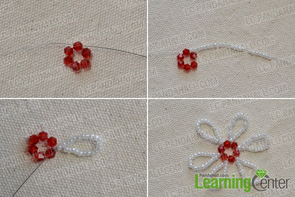 Pandahall's Free Seed Bead Flower Necklace Patterns And Instructions Enchanting Seed Bead Patterns