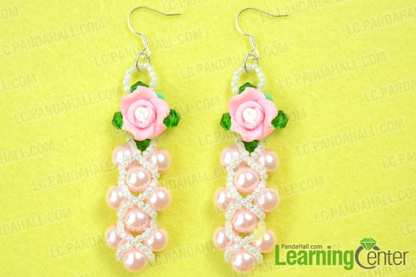 finish beaded flower earring patterns