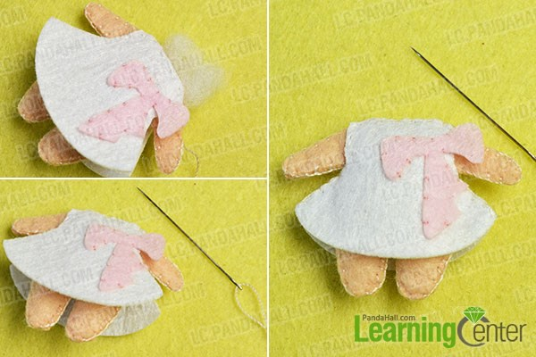 make the third part of the lovely felt couple pendants