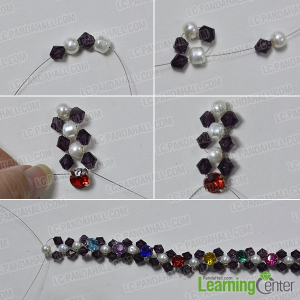 Make the glass beaded pattern