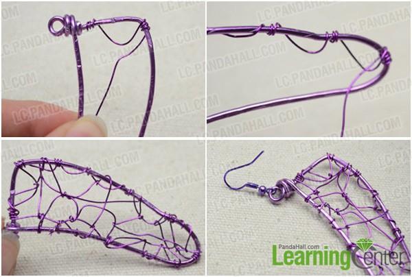 Step 2: weave net pattern onto wing