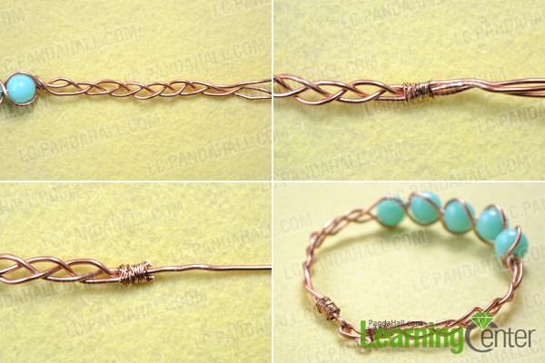 Finish DIY wire bangle bracelet