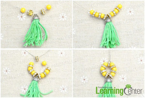 make beaded loop of the tassel drop earring