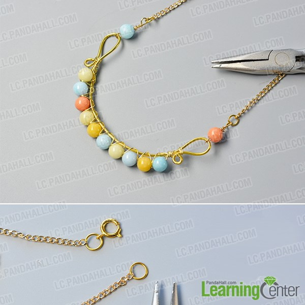 finish the wire wrapped necklace