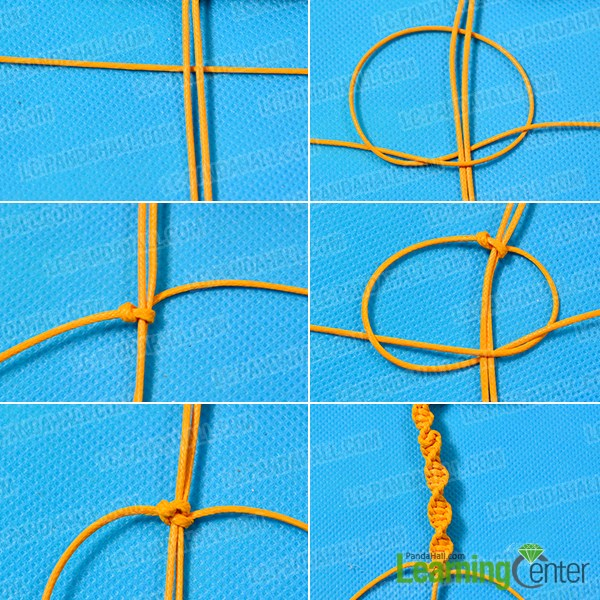 make the main part of the yellow cord friendship bracelet