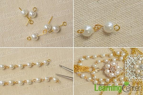 Add pearl chain ornament
