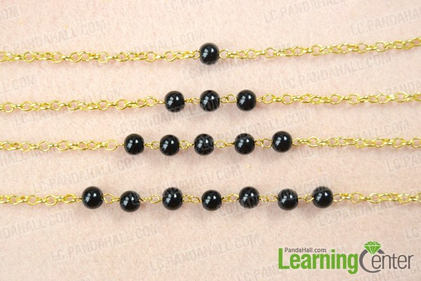 Finish bead and chain necklace designs
