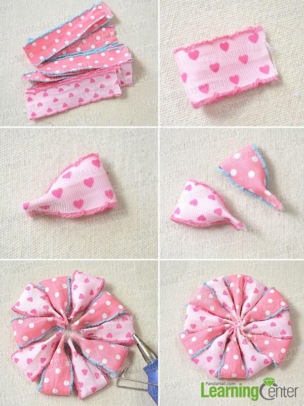 Make a ribbon flower