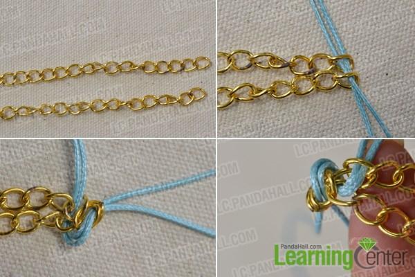 Make the bracelet chain