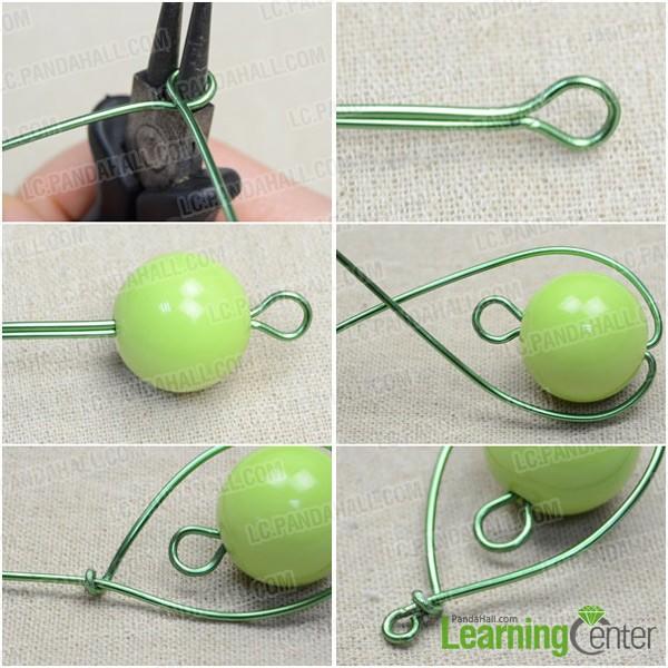Step 1: Wire wrap oval frame